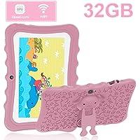 Tablet para Niños 7.0 Pulgadas Tablet PC DUODUOGO 32GB IPS FHD Pantalla Tablet para Niños Quad Core Dual Cámaras WiFi Tablet Infantil, Rosa