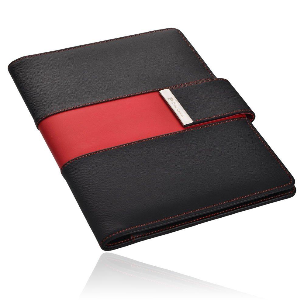 Pierre Cardin Charente, cartella da scrivania, formato A5, scomparto per mini iPad nero/grigio
