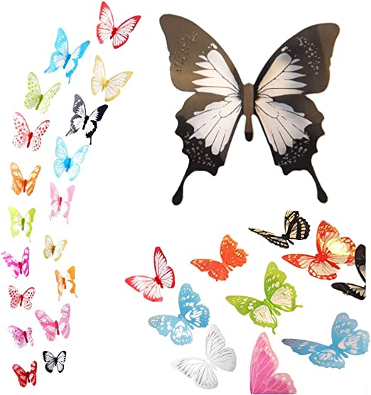 """vintage butterfly stencil 2 craft,fabric,glass,furniture,wall art up to 23/"""""""