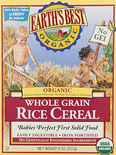 Earth's Best Organic, Whole Grain Rice Cereal, 8 Ounce