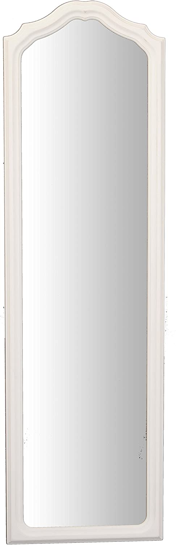 Made in Italy. Miroir Mural rectangulaire 35x119cm avec Cadre en Bois profil/ée Finition Blanc Shabby Chic Vintage