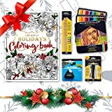 Prismacolor Bundle - 48-Count Colored Pencils, Triangular Scholar Pencil Eraser, Premier Pencil Sharpener, Colorless Blender Pencils, and CSS Adult Coloring Book
