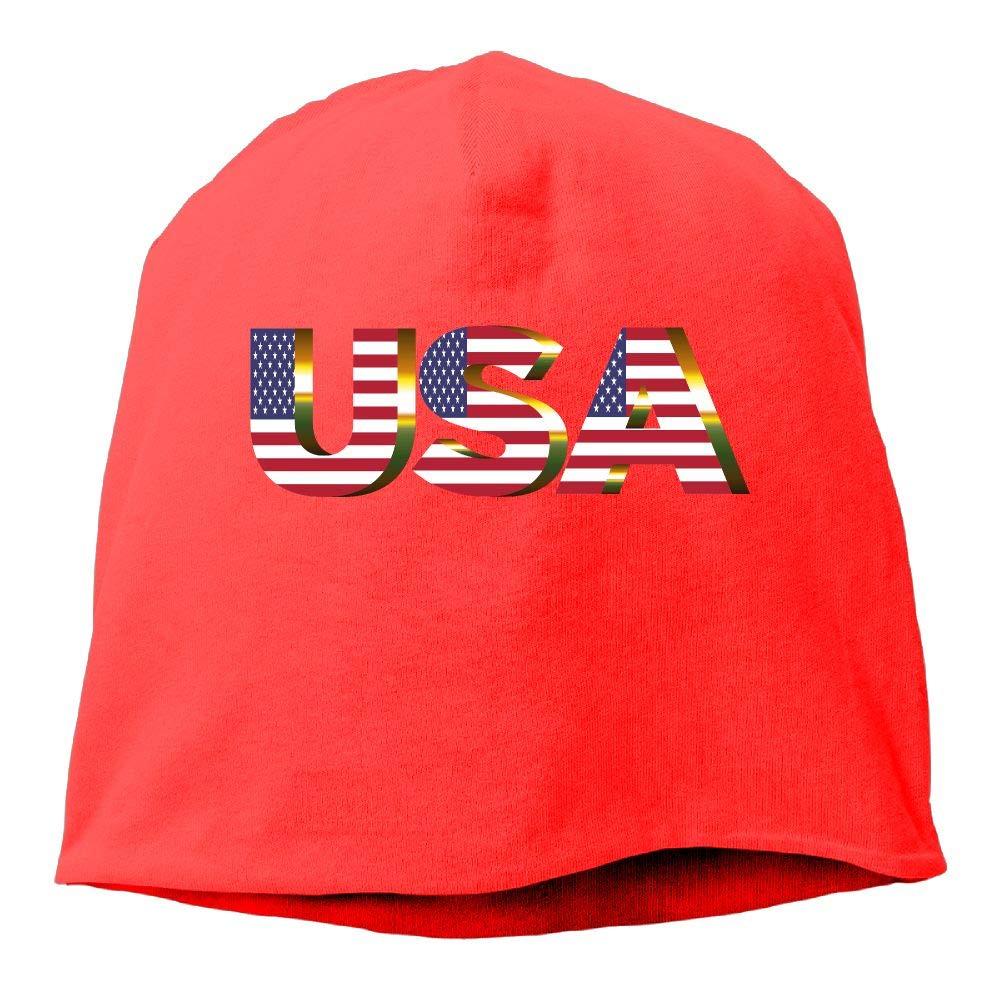 SHA45TM USA Flag Men /& Women Winter Helmet Liner Fleece Skull Cap Beanie Hat for Running Black