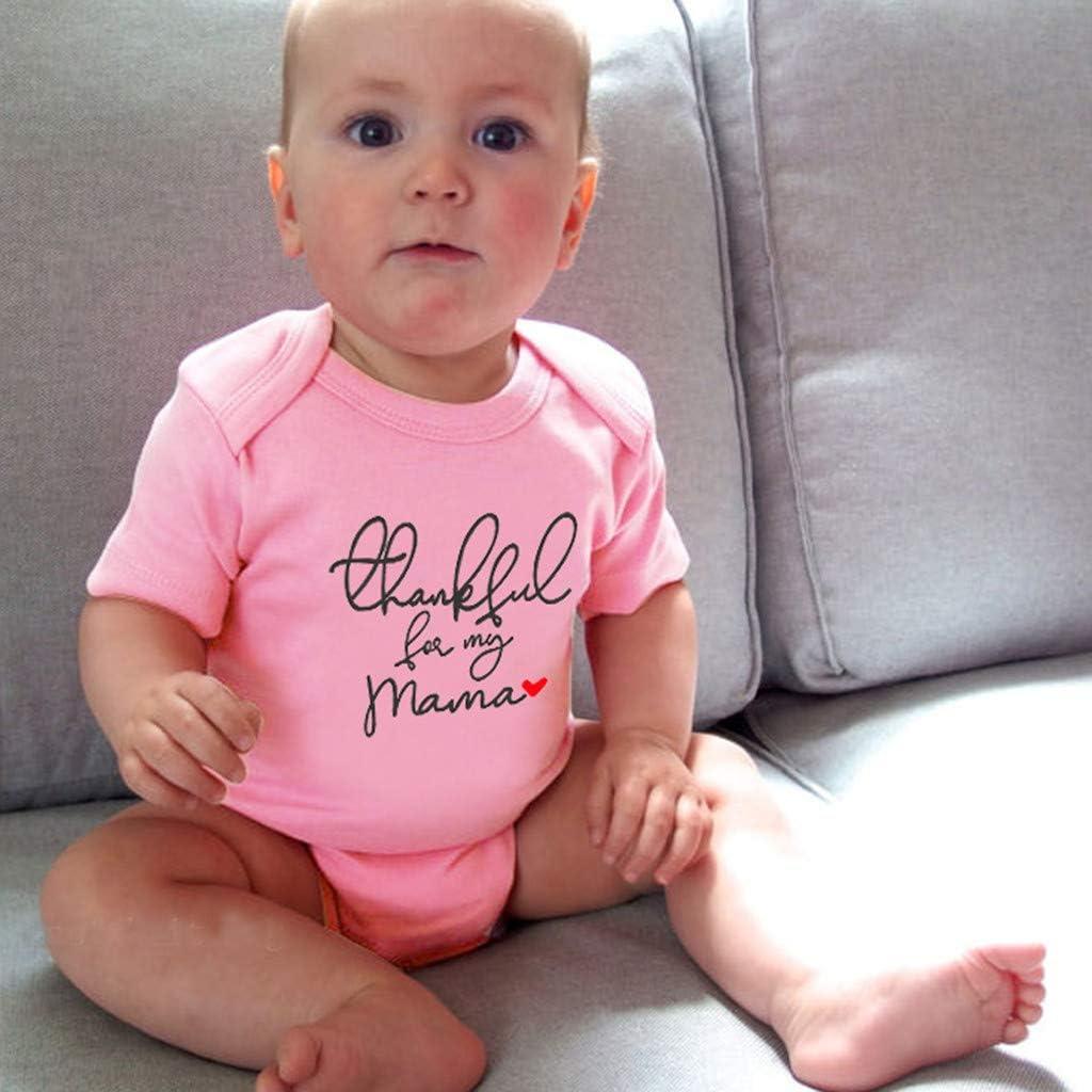 WOCACHI Toddler Baby Girls Clothes Newborn Infant Baby Girl Boy Jumpsuit Bodysuit Straps Letter Romper