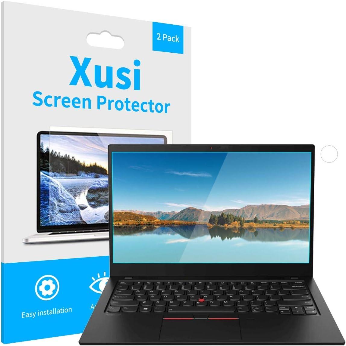Xusi Screen Protector For Lenovo Thinkpad X1 Carbon Gen8/Gen7/Gen6 Anti Bluelight &Anti Glare Screen Protector Precise Film 14 Inch 2Pcs (14 In Anti Bluelight, Transparent)