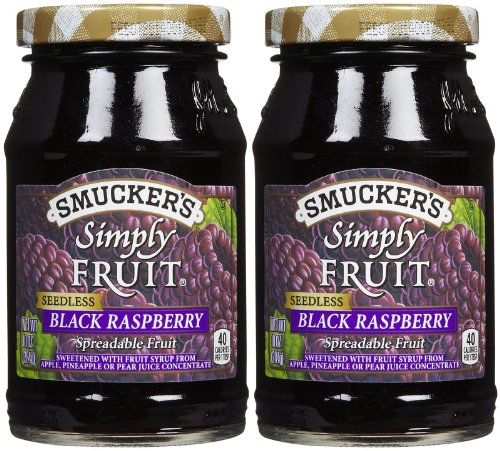 (Smucker's Seedless Black Raspberry Simply Fruit Spread (2 Pack) 10 oz Jars)