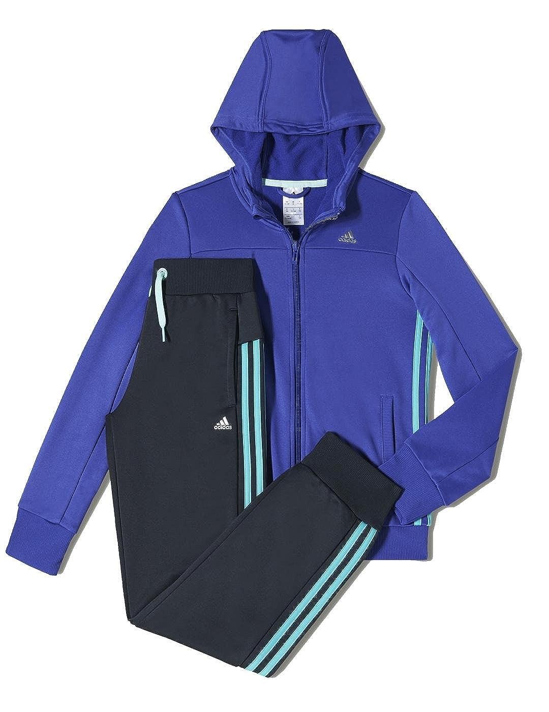 adidas YG S HD Pes Ts - Chándal para niña, color azul/gris, talla ...