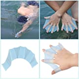 CLKjdz 1 Pair Silicone Swimming Hand Fins