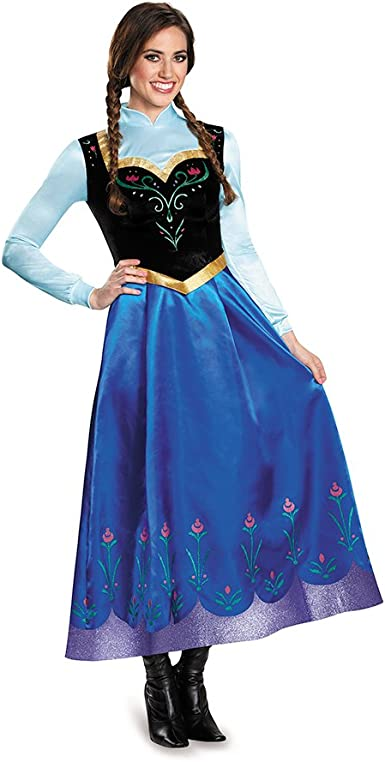 Amazon.com: Disguise Women's Anna Traveling Prestige Adult Costume: Clothing