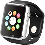 Smart Watch Touch Screen Bluetooth Smart Wrist Watch with Camera, Micro Sd Card & Sim Card Support For Apple iPhone IOS, Android Smartphones
