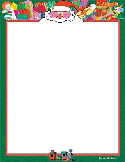 amazon com holiday stationery santa 8 5 x 11 80 fun