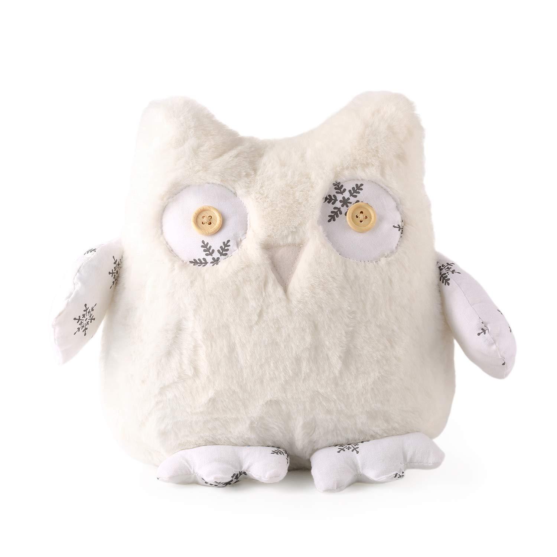 meowtastic Snowy Owl Plush Home Decor 8 1/2 Inches Stuffed Animal