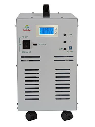 Solinba 3KW Peak 9KW Power Inverter Converter Pure Sine Wave Off Grid DC24v to AC110v 60Hz DC AC LCD Display