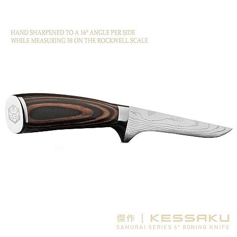 Amazon.com: Kessaku – Cuchillo de hueso, serie Samurai ...