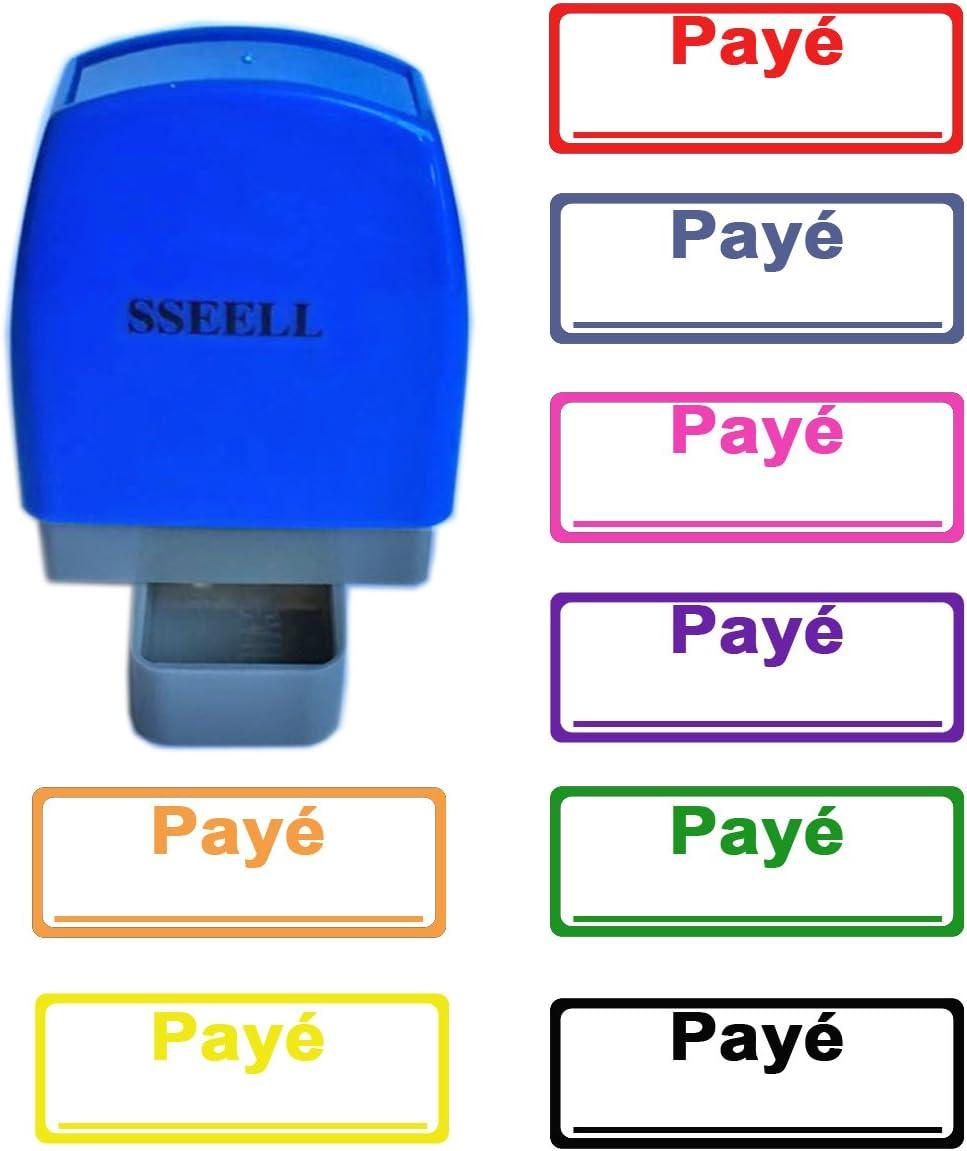 SSEELL Pay/é/_ Tampon Encreurs Auto-encreur Bureau self Cachet Stamp Office Pre Inking Timbre Orange
