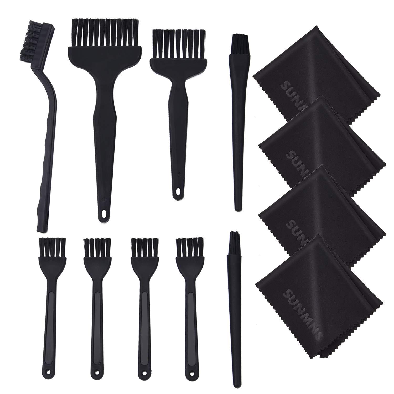Sunmns 13 in 1 Keyboard Brushes Cleaning Computer Printer Brush Kit, Black