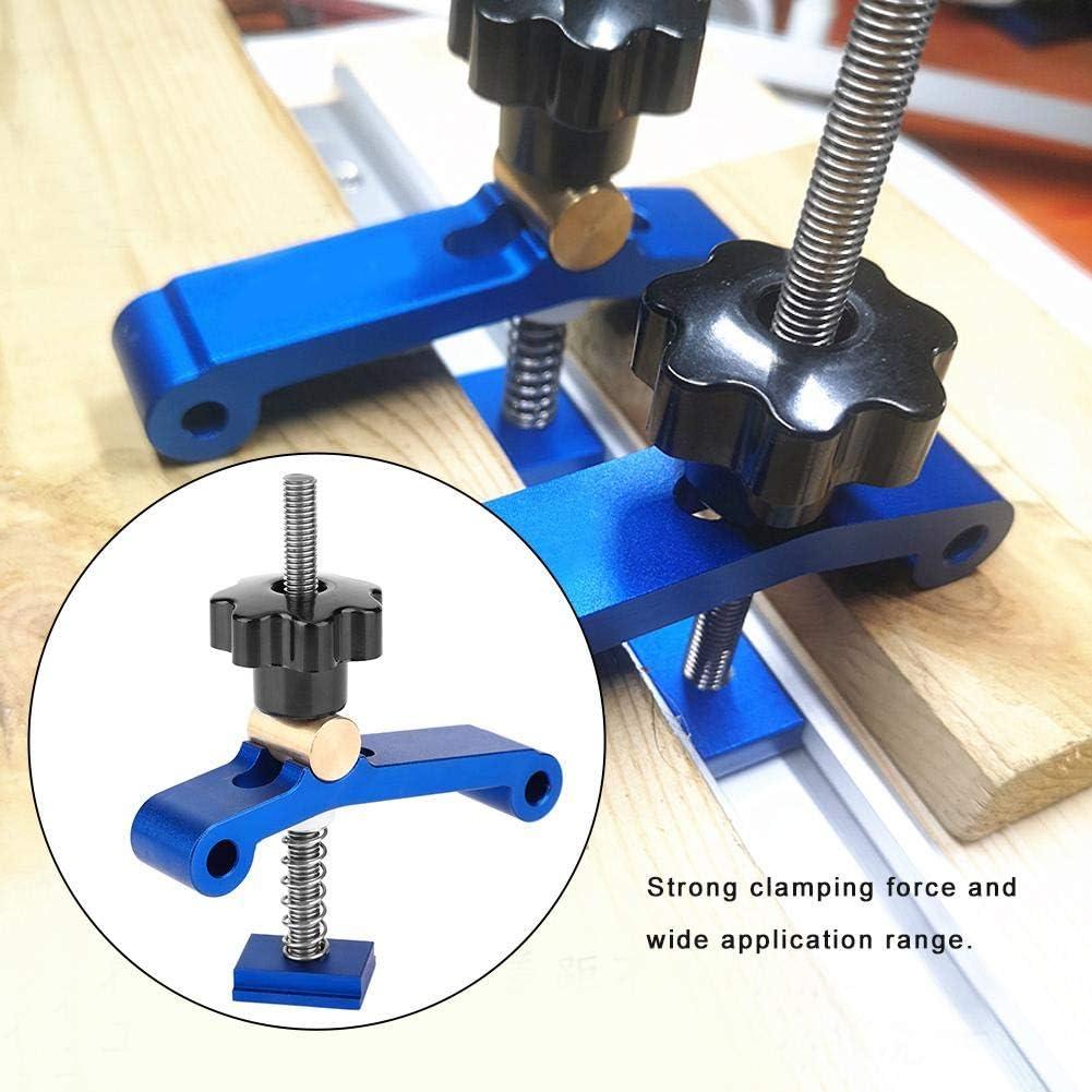Abrazadera de bloque de riel en T carpinter/ía de 1 pieza Abrazadera de sujeci/ón de riel en T Multiuso Abrazadera de riel en T para rieles con ranura en T