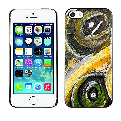 Premio Sottile Slim Cassa Custodia Case Cover Shell // V00001815 Peinture abstraite // Apple iPhone 5 5S 5G