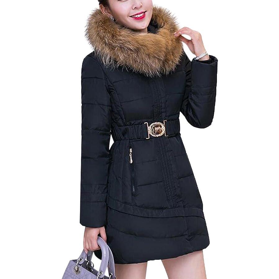 Amazon.com: Mojessy Women's Thick Winter Coat Hood Parka Overcoat ...