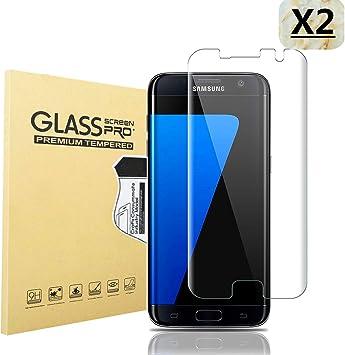 Haikingmoon Cristal Templado Samsung S7 Edge,[2 Piezas] Ultrafino ...