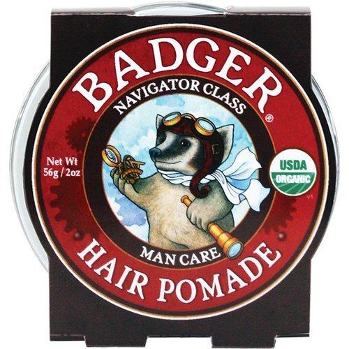 Badger Homme Soins des cheveux Pommade, 2 oz étain