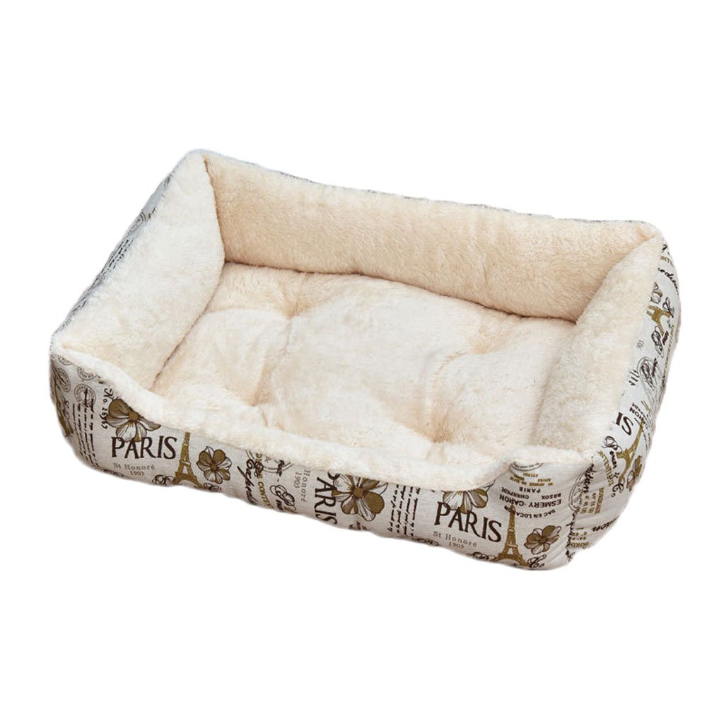 Beige XS Beige XS Moolo Pet Bed Arctic Short Plush Cotton Pad Four Seasons Universal Non-slip Soft Comfortable Cool Breathable And Durable Dog Bed (color   Beige, Size   XS)