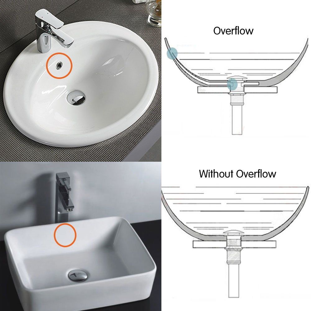 Cleaning overflow drain bathroom sink - Kes Bathroom Faucet Vessel Vanity Sink Pop Up Drain Stopper Without Overflow Brushed Nickel S2008d 2 Amazon Com