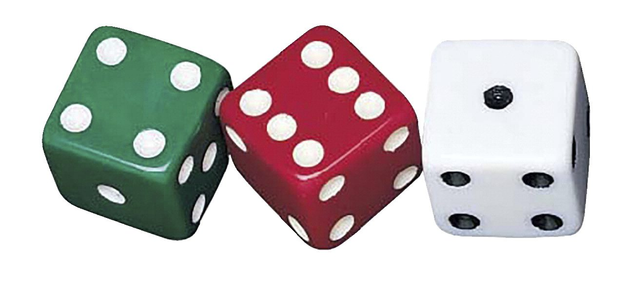 School Smart Dotted Dice Set - Assorted Colors - Set of 36 by School Smart