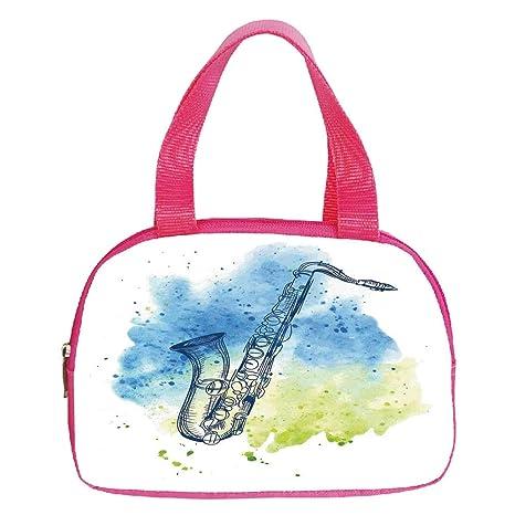 Jazz Music Musical Instrument Tote Bag Purse Handbag For Women Girls
