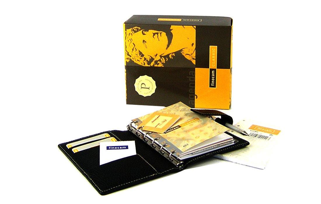 Agenda Finocam Classic Piel Cris 602 Negro 6 anillas 2D/P ...