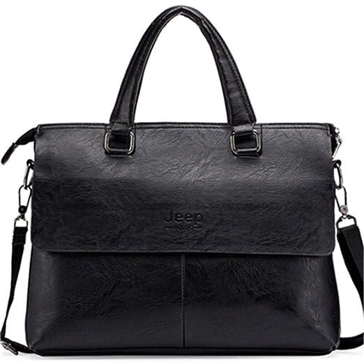 Men s Briefcase Fashion Handbags Sacoche Homme Marque Male Pu Leather Bag  Laptop Black a04db5d92b9