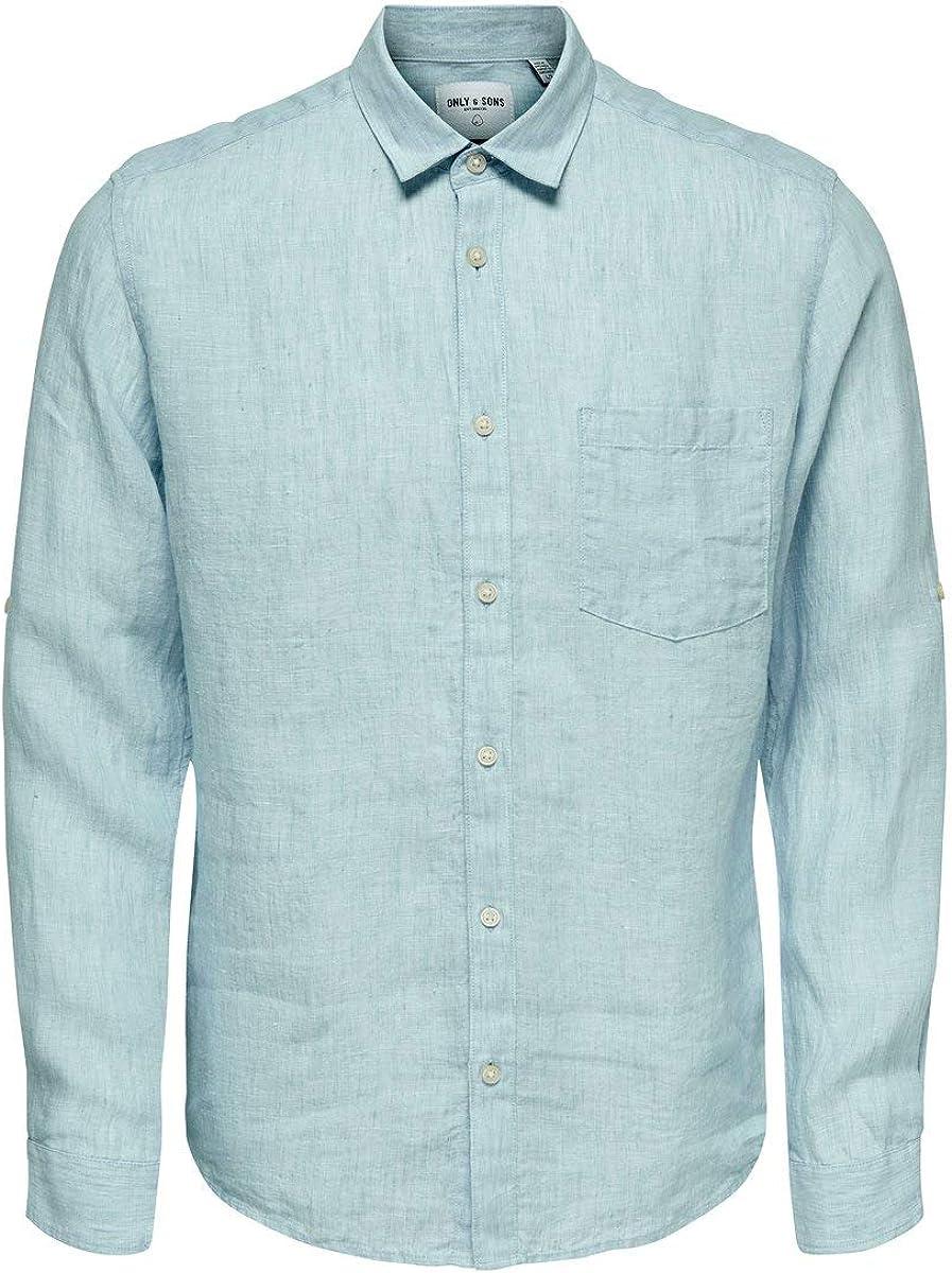 Only & Sons Onsluke LS Linen Shirt Noos Camisa Casual para Hombre: Amazon.es: Ropa y accesorios