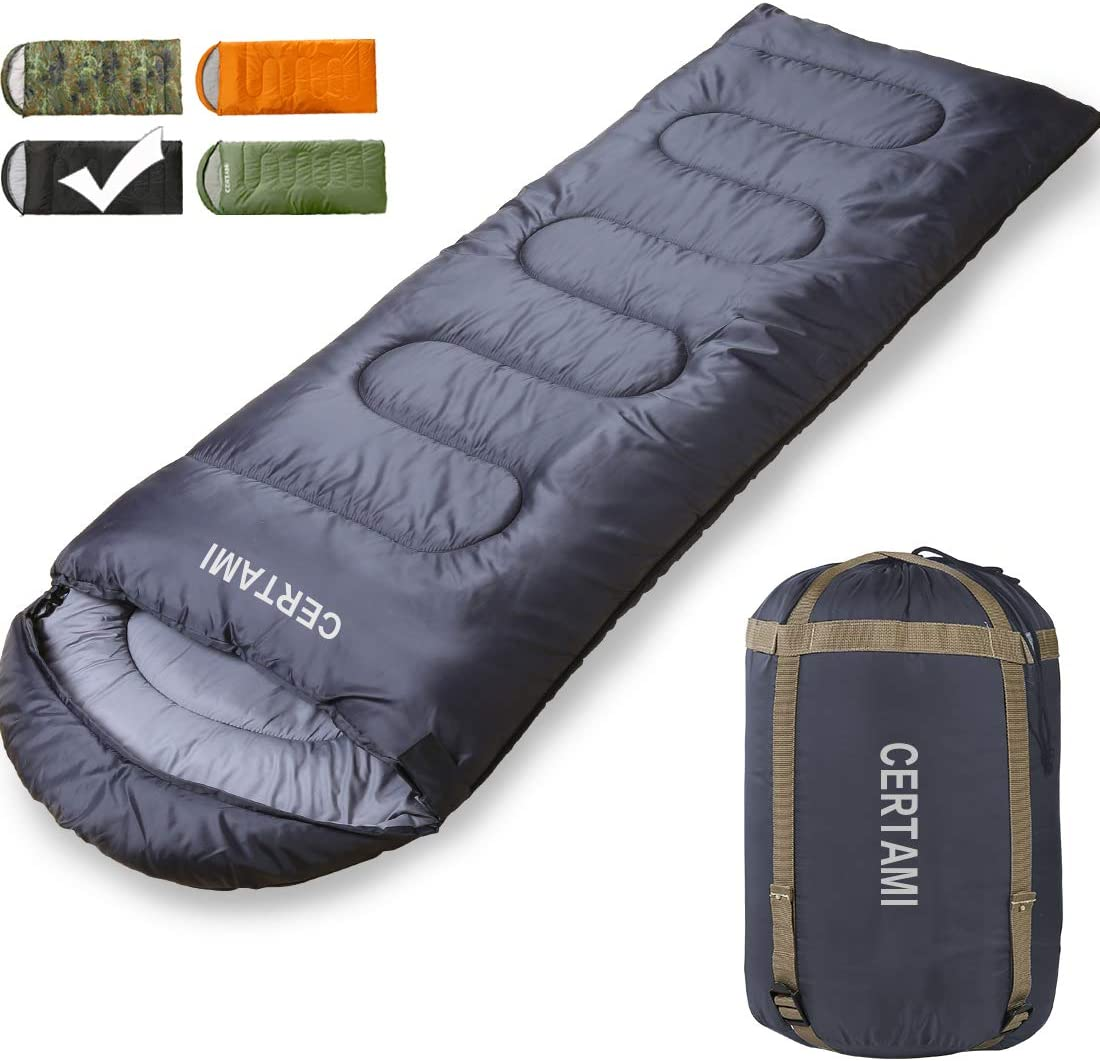 CER TAMI Sleeping Bag for Adults, Girls Boys, Lightweight Waterproof Compact, Great for 4 Season Warm Cold Weather, Perfect for Outdoor Backpacking, Camping, Hiking