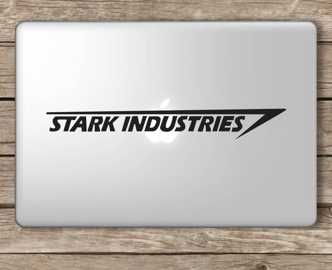Amazon stark industries iron man avengers apple macbook amazon stark industries iron man avengers apple macbook laptop vinyl sticker decal die cut vinyl decal for windows cars trucks tool boxes colourmoves