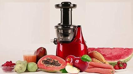Amaco Licuadora de Prensado Frío y Extracción Lenta para Frutas y Verduras con 3 Tipos de