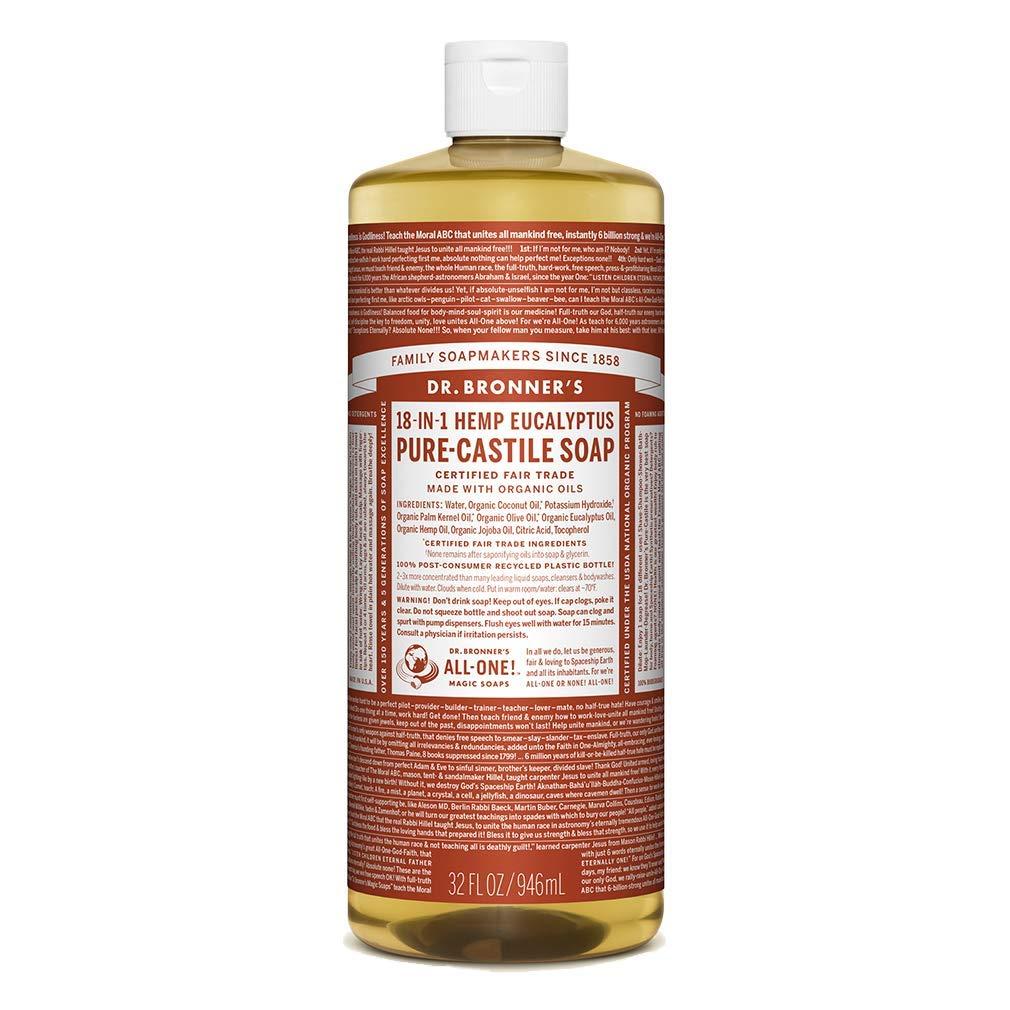 Dr Bronners, Soap Liquid Castile Eucalyptus, 32 Fl Oz