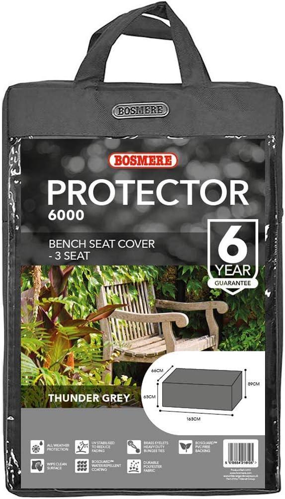 Bosmere Thunder Grey 3 Seat Bench Cover Grey U610