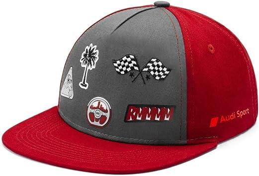 Audi Collection 3201901000 Basecap Kinder Cap Snapback Baseballcap Grau Rot Mittel Auto