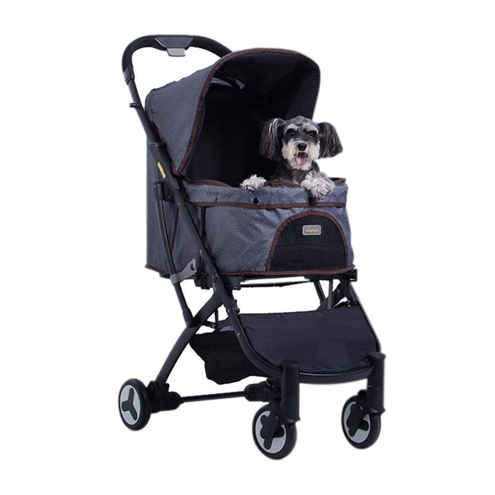 bluee Dog Pushchair, Stroller Pram Carrier Outdoor Travel Folding Pet Trolley for Teddy Cat Disabled Baby Cart (color   bluee)