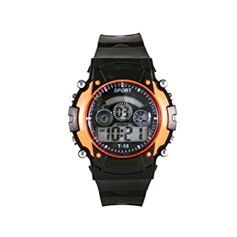 b99714c27f3 Buy 7 Light Orange Digital Watch Online at Low Prices in India - Amazon.in