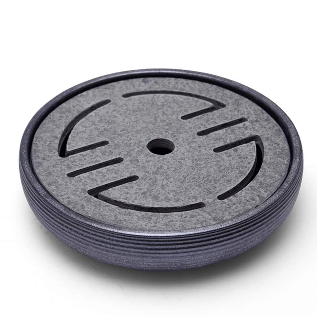 コーヒーティー用品/ティー用品 ラウンドティートレイブラックゴールドストーンシンプルティートレーホームスモールティーテーブルクリエイティブウォーターストレージティーセットカンフーティーセット、小さく柔軟なスーパーウォーターストレージ (Color : Black, Size : 26.5*26.5*7cm) B07LFFY9DP Black 26.5*26.5*7cm