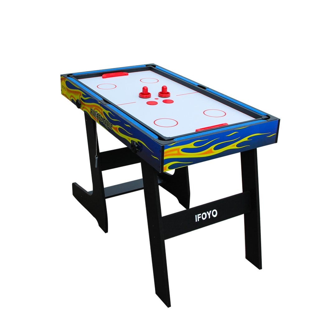 IFOYO Multi-Function 4 in 1 Steady Combo Game Table, Hockey Table, Soccer Foosball Table, Pool Table, Table Tennis Table, Yellow Flame, 48 in / 4 ft, Christams Gift by IFOYO (Image #6)