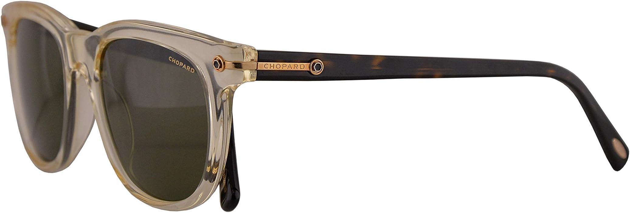 ab1a2ca617 Chopard SCH192 Sunglasses Crystal Yellow w Polarized Green Lens 52mm 846P  SCH 192