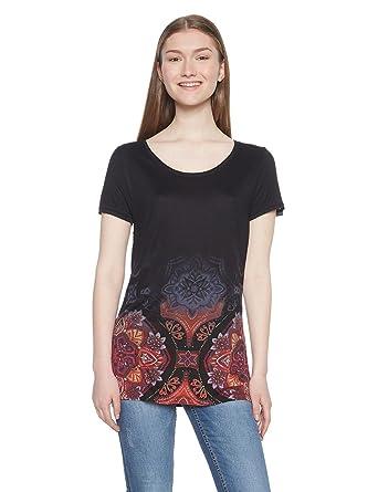 nueva productos calientes marca popular mujer Desigual TS_Leonor Camiseta para Mujer: Amazon.es: Ropa y ...