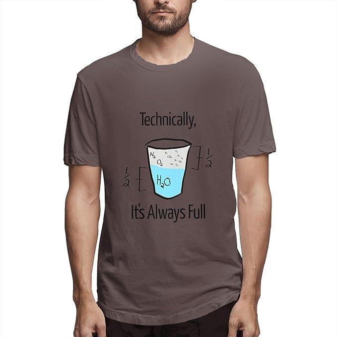 Seuriamin Technically Its Always Full Mens Jogging Short Sleeve T-Shirt