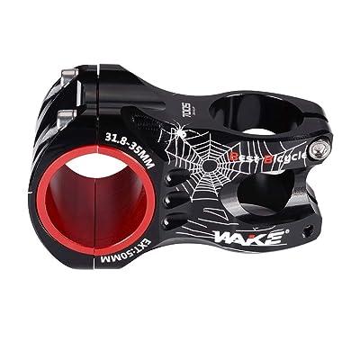 MTB Stem 31.8 35 Stem 60mm 20 Degree Wake Mountain Bike Stem Short Handlebar...