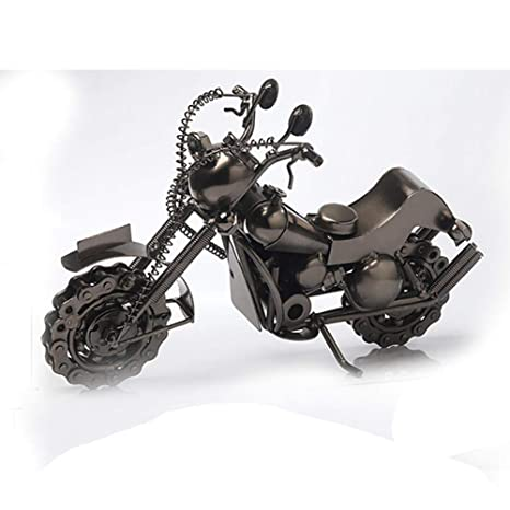 Motocicleta en miniatura de metal estilo vintage para ...