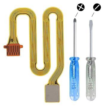 MMOBIEL Botón de Inicio Cable de conexión de Clave de Huella Dactilar para Huawei P20 Lite Incl. 2X Destornilladores para una fácil instalación