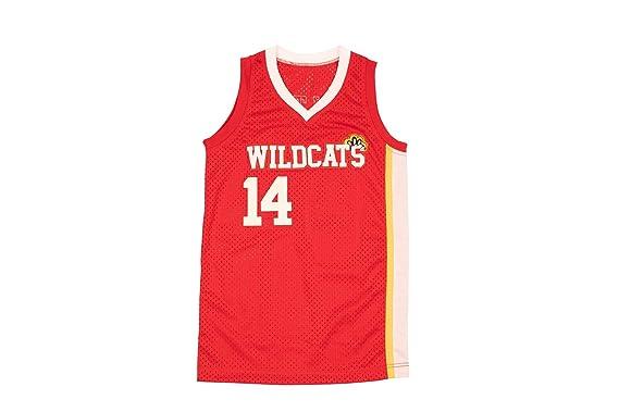0dd5d78deae Boriz Zac E Troy Bolton 14 East High School Wildcats Claws Red Stitch  Basketball Jersey (
