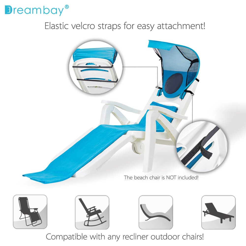 Amazon.com: Portable Beach Chair Sunshade With Beach Towel Backpack,  Adjustable Beach Canopy For Outdoor Chairs (Not Include Chairs): Home U0026  Kitchen